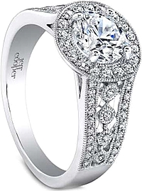 Jeff Cooper 'Halle' Diamond Engagement Ring