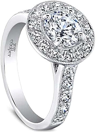 Jeff Cooper 'Harlow' Pave Diamond Engagement Ring