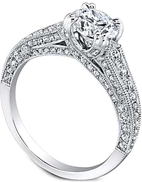 Jeff Cooper 'Hazelle' Pave Diamond Engagement Ring