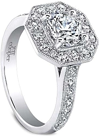 Jeff Cooper 'Helena' Diamond Engagement Ring