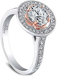 Jeff Cooper 'Henna Rose' Pave Diamond Engagement Ring