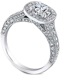 Jeff Cooper 'Honor' Pave Diamond Engagement Ring