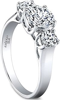 Jeff Cooper Lattice Three Stone Engagement Ring