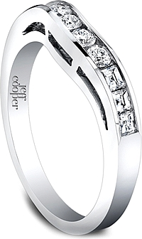 Jeff Cooper Nikole Collection Curved Wedding Band
