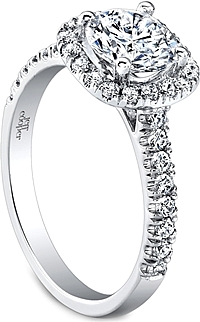 Jeff Cooper Pave Diamond Engagement Ring