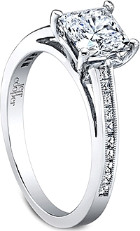 Jeff Cooper Princess Channel Set Diamond Engagement Ring