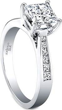 Jeff Cooper Princess Cut Channel Set Diamond Engagement Ring