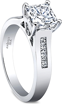 Jeff Cooper Princess Cut Diamond Engagement Ring