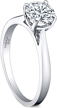 Jeff Cooper Solitaire Diamond Engagement Ring