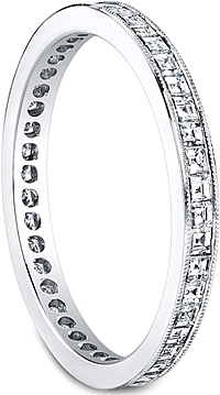 Jeff Cooper Square Baguette Diamond Wedding Band
