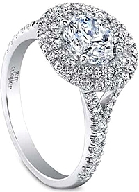 Jeff Cooper 'Tina' Pave Double Halo Diamond Engagement Ring