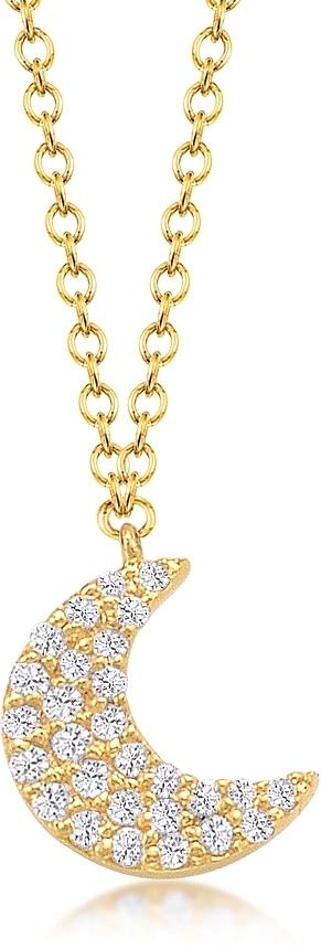 Jordan scott pave diamond moon pendant js n4685 aloadofball Image collections