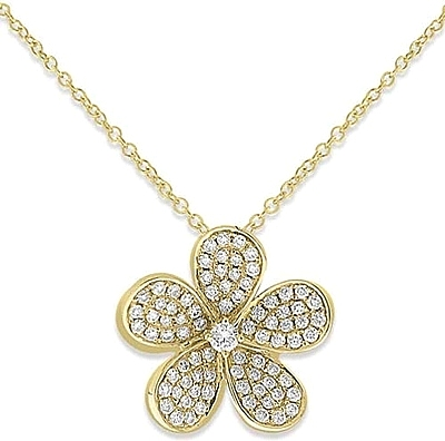 Kc Designs 14k Yellow Gold Diamond Flower Pendant Kc N9932