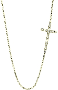 KC Designs Diamond Sideways Cross Necklace