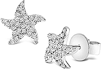 KC Designs Diamond Starfish Earrings