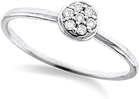 KC Designs Petite Diamond Ring