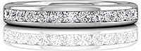 Martin Flyer Channel Set Diamond Wedding Band