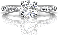 Martin Flyer Pave Diamond Engagement Ring