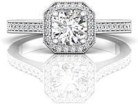 Martin Flyer Pave Halo Diamond Engagement Ring