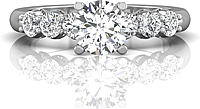 Martin Flyer Prong Set Diamond Engagement Ring