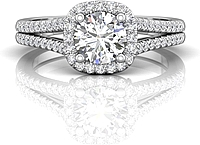 Martin Flyer Split Shank Diamond Engagement Ring