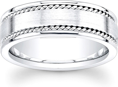 Wedding Band For Men.Men S Double Rope Wedding Band 8mm