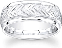 Men's Engraved Wedding Band-8mm