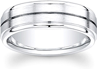 Men's Satin Finish Wedding Band-7mm