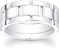 Men's Segmented Wedding Band-8.5mm