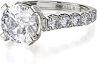 Michael M. Pave Diamond Engagement Ring