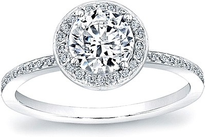 Micro Pave Enement Rings | Micro Pave Diamond Halo Engagement Ring 1 4ct Tw Scs1106b