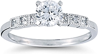 Milgrain Princess Cut Diamond Engagement Ring
