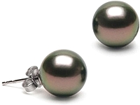 Pair of 10.0-11.0mm Tahitian Pearl Stud Earrings