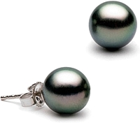 Pair of 12.0-13.0mm Tahitian Pearl Stud Earrings
