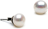 Pair of 6.0-7.0mm White Freshwater Pearl Stud Earrings