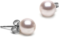 Pair of 7.0-7.5mm White Akoya Pearl Stud Earrings