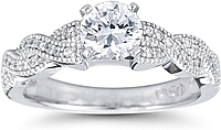 "Pave Diamond ""Twist"" Engagement Ring"