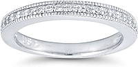 Pave Diamond Wedding Ring w/ Milgrain