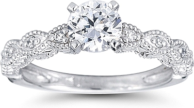 Pave marquise design diamond engagement ring us3030 this image shows the setting with a 100ct round brilliant cut center diamond the junglespirit Images