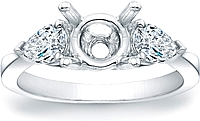 Pear Shape Diamond Engagement Ring- .69ct tw