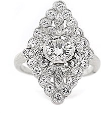 Platinum Diamond Estate Ring- 1.72tcw