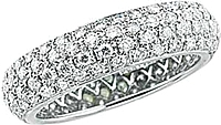 Platinum Four Row Micro-Pave Diamond Band -1.53ct tw