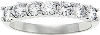Platinum Seven Stone .90ct Diamond Wedding Ring