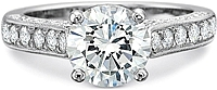 Precision Set 3-Sided Diamond Engagement Ring