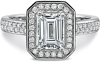 Precision Set Double Pave Diamond Engagement Ring
