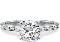 Precision Set Flush Fit Channel Set Diamond Engagement Ring