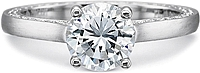 Precision Set Flush Fit Matte Finish Diamond Engagement Ring