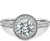 Precision Set Pave Diamond Engagement Ring