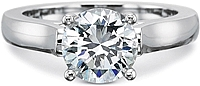 Precision Set Solitaire Flush Fit Diamond Engagement Ring