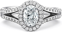 Precision Set Split Shank Diamond Engagement Ring
